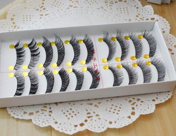 Free shipping 2015hot sale10Pairs Hand made fashion charming eye lashes False Eyelashes Natural Long Thick  Beauty Health Makeup
