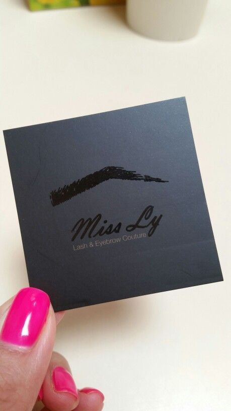 Miss Ly's eyebrow feathering card :)