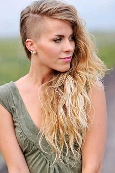 Long Shaved Hairstyles on Pinterest
