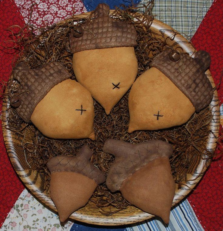 Primitive Acorn Tucks Bowl Fillers EPattern