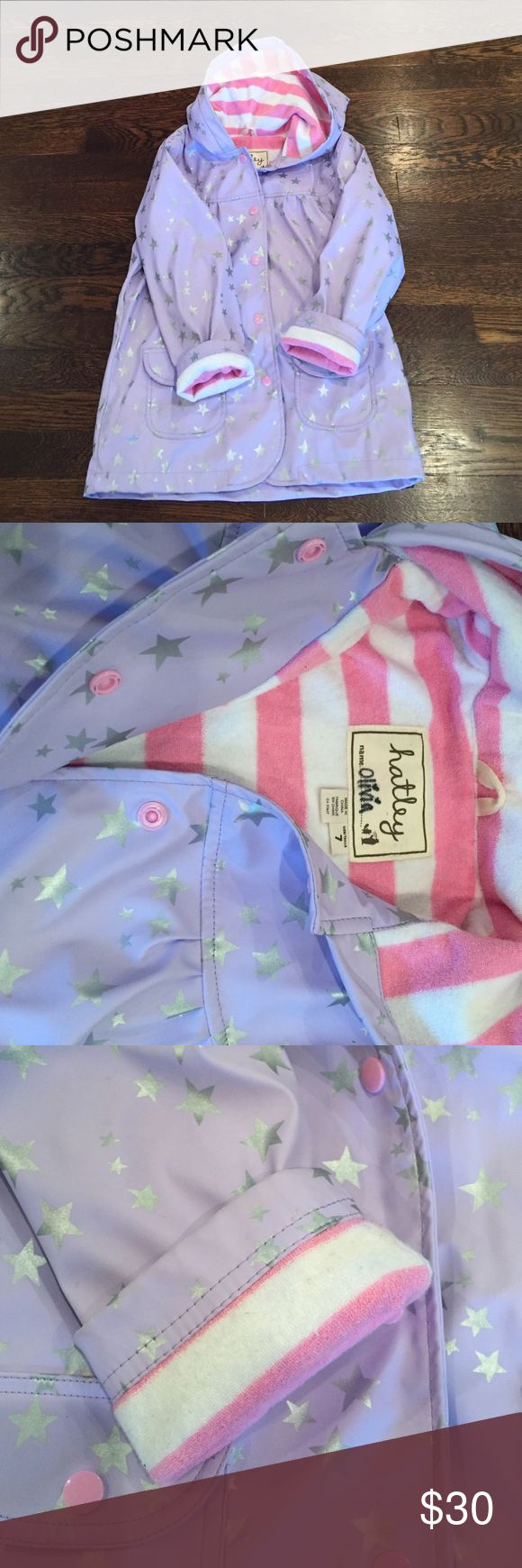 Harley Terrycloth lined Raincoat Adorable and cozy raincoat. Completely lined with terry cloth and high quality snaps. Hatley Jackets & Coats Raincoats