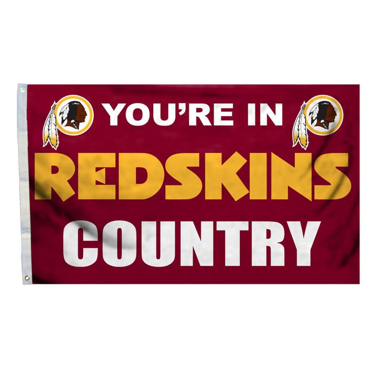 You're In WASHINGTON REDSKINS Country Logo NFL Deluxe 3' x 5' Banner Flag NEW