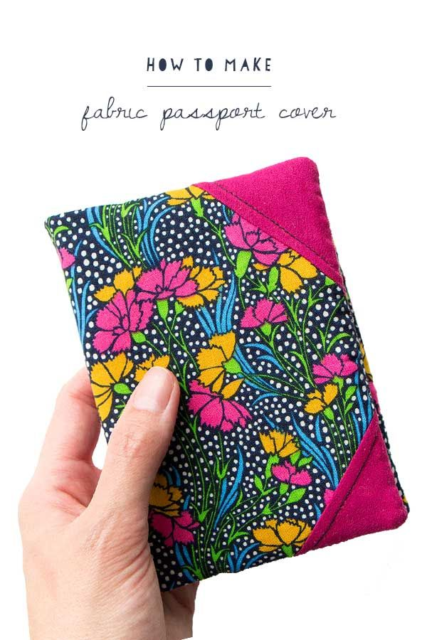 Planning a weekend getaway? Stitch up a brand new cover for your passport. Here's how... | Free Sewing Pattern | Travel
