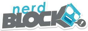 Nerdblock Logo Like lootcrate and skoshbox but with nerdy figurines and a shirt