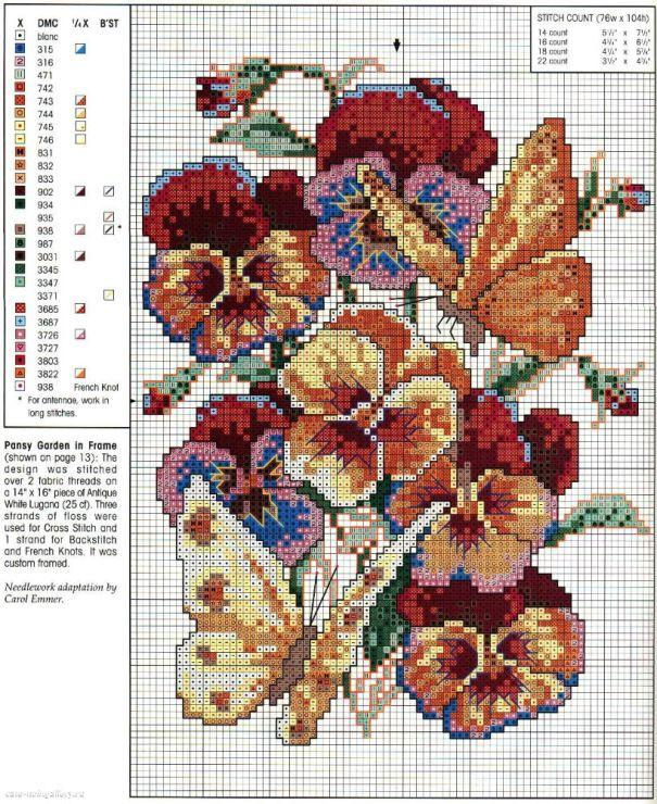 Pansies & Butterflies