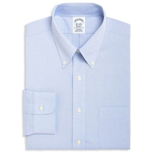 Brooks Brothers  Blue Label Slim Fit Non-Iron Dress Shirt ($92) ❤ liked on Polyvore featuring men's fashion, men's clothing, men's shirts, men's dress shirts, blue, men's non iron dress shirts, brooks brothers men's dress shirts, mens dress shirts, no iron mens shirts and non iron men's shirts