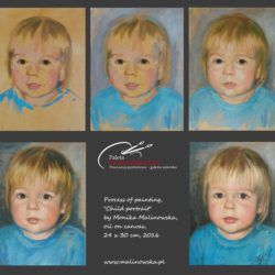Process of painting child portrait- oil on canvas