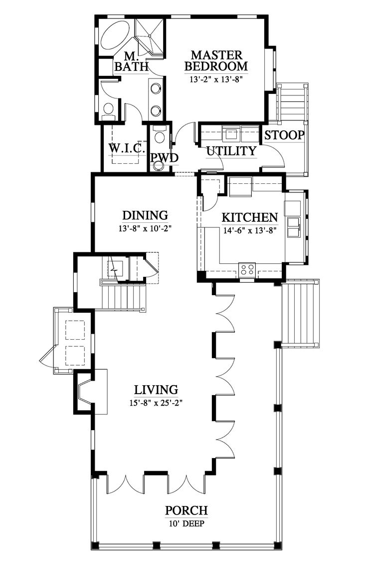 3209 best narrow lot compact house plans images on pinterest