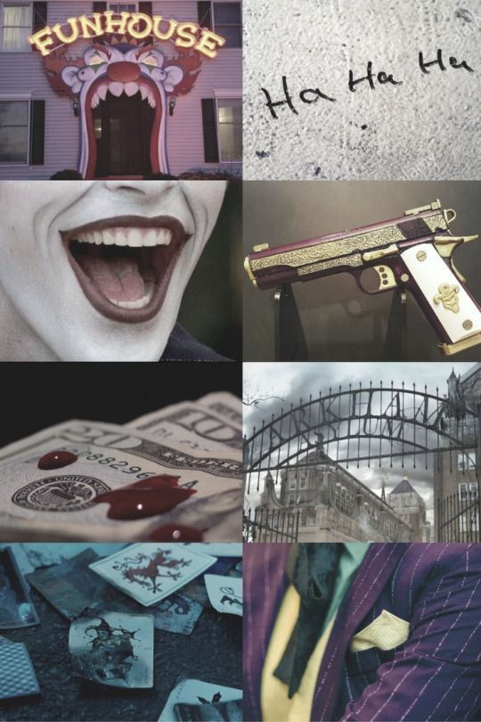 the joker -aesthetic-  made by me Psychotic clowns and the women who love them