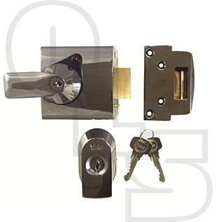 YALE PBS1 HIGH SECURITY NIGHTLATCH - 60mm BACKSET - Yale British Standard nightlatches offer insurance rated security where a BS mortice lock cannot be fitted or where additional security is required. Kitemarked to BS3621:2007 and Approved by Secured by Design.  Various finish combinations available.
