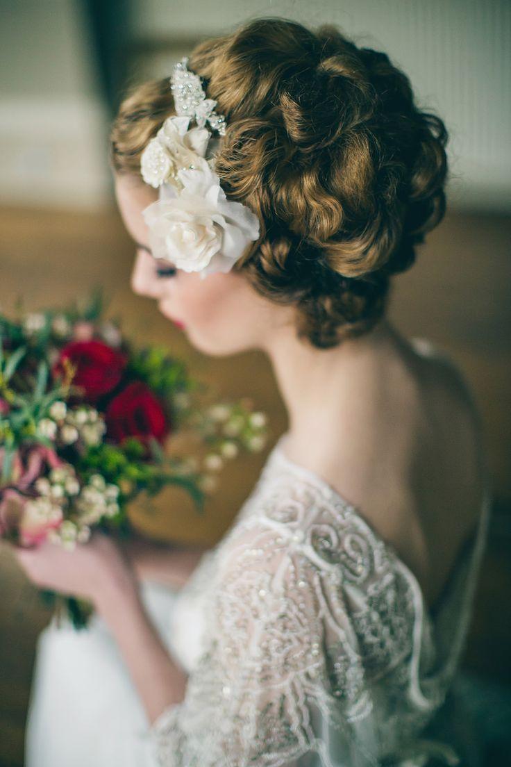 Eliza Jane Howell Bridal- Elsa. Art Deco inspired British designer available at The Tailor's Cat, Cambridge 01223 366700