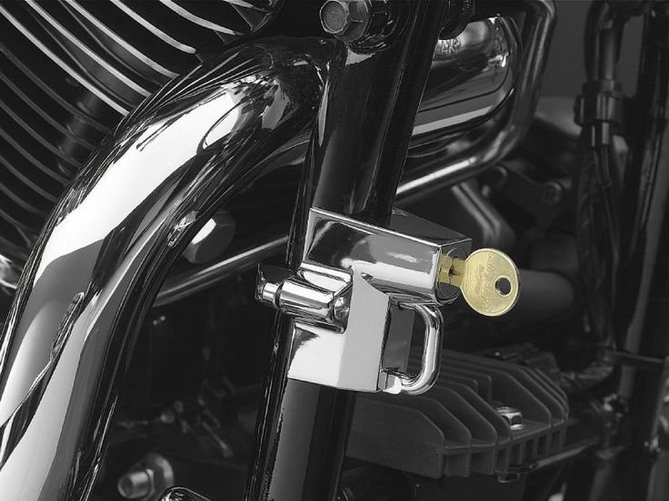 "Chrome Universal Helmet Lock for 1-1/4"" to 1-1/2"" Tube (ea) in Other Stuff - General Accessories - Cross Bikes, Magnum & Hardball - Victory Motorcycles - Your #1 Source for US Made, Custom Victory Motorcycle Parts"