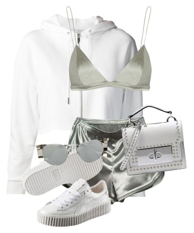 """""""Untitled #3583"""" by xirix ❤ liked on Polyvore featuring Yves Saint Laurent, WithChic, T By Alexander Wang, Marc Jacobs, Puma and Linda Farrow"""