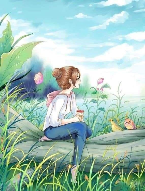 Relaxation Girly Art Anime Art Beautiful Girly Drawings