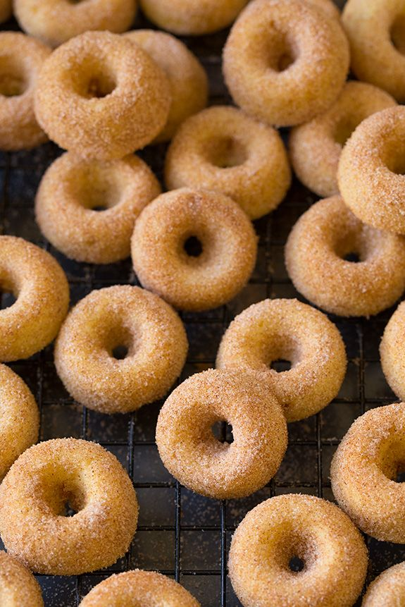 Baked Cinnamon Sugar Mini Donuts | Cooking Classy