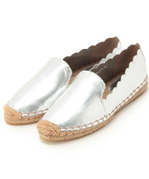 aquagirl shoes(アクアガールシューズ)のスカラップエナメルエスパドリーユ(その他シューズ) シルバー