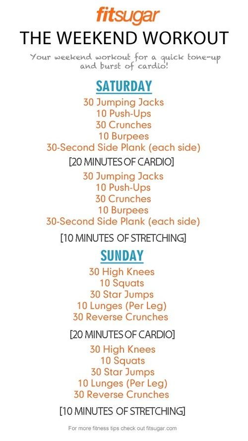 Quick weekend workout!...this SEEMS like it could fit into my schedule!