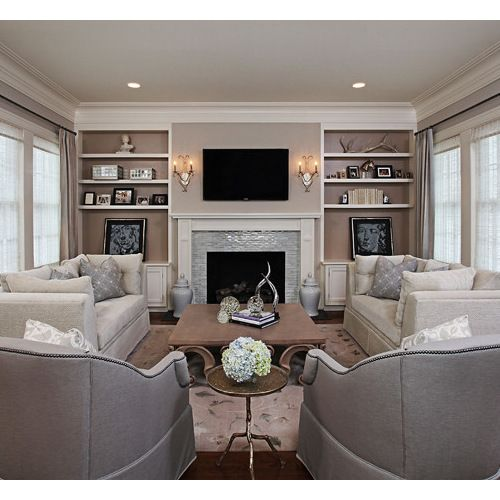 Cabinet Around Fireplace Ideas, Pictures, Remodel and Decor https://www.divesanddollar.com/modern-living-room-with-pool/
