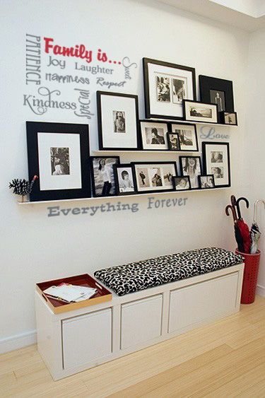 LOVE this wall decal- scatter it how you want to and choose your colors/sizes. Family is...