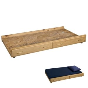Build this trundle for under $80 using our free plans or buy this for over $450.
