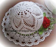 7 Padrões de chapéus muito femininos para crochê tricô ~ Patterns for Croc ...