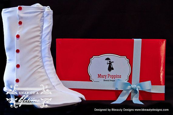 Mary Poppins Custom Spats and Victorian Jolly Holiday Boots Adult Costume via Etsy