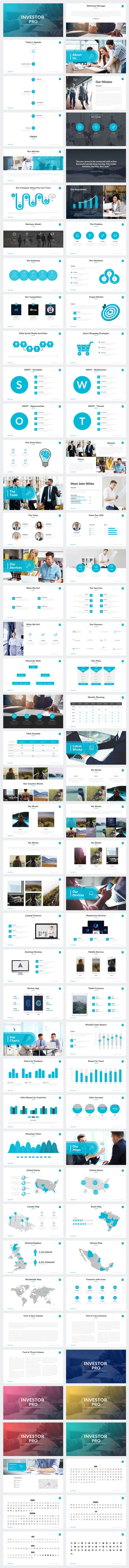 Investor Pro Powerpoint Template by Rocketo Graphics on @creativemarket