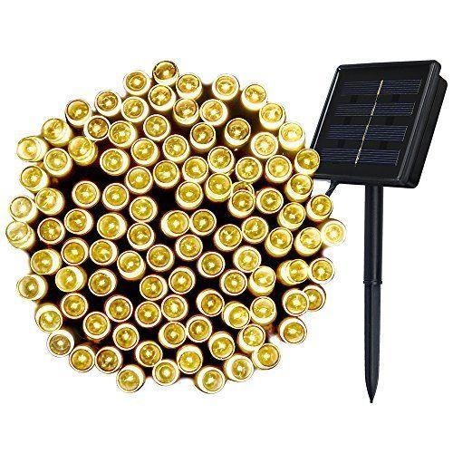 Great InnooTech er LED Solar Lichterkette Garten Au en Licht Warmwei M Modi Dekorative Beleuchtung f r