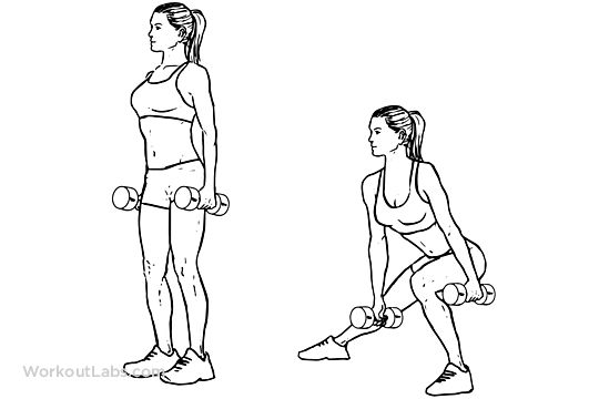 Dumbbell Side Lunge / Lateral Lunge