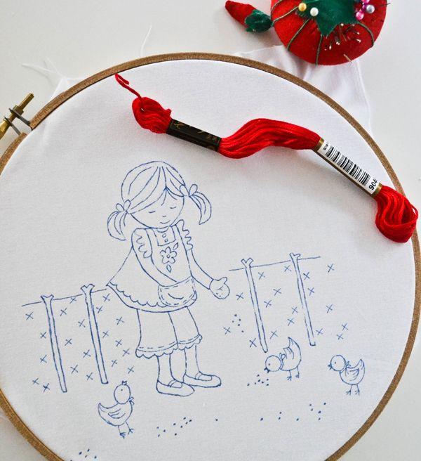 Cómo trazar un patrón de bordado - un tutorial por abajo Grapevine Carril