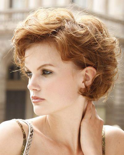 Auburn Hairstyle-Short Curly Hair