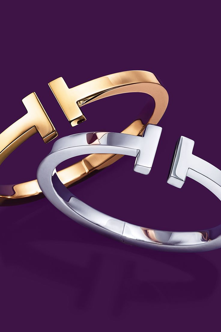 """T for two. Nothing says """"I love you"""" like matching Tiffany T bracelets."""