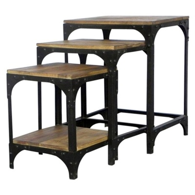 Industry End Table, (Set of 3)