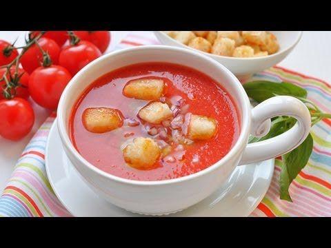Рецепт: Гаспачо (холодный томатный суп)