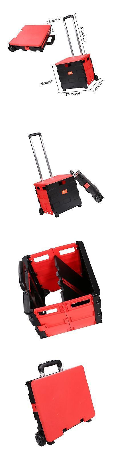 Shopping Cart Covers 73470: Folding Two-Wheeled Trolley Hand Cart Plastic Hefty Heavy Carry Shopping Trav... -> BUY IT NOW ONLY: $300 on eBay!