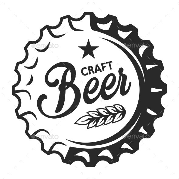 Vintage Craft Beer Emblem Craft Vintage Emblem Beer Craft