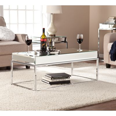 Dana Mirrored Cocktail Table   Bernie And Phyls