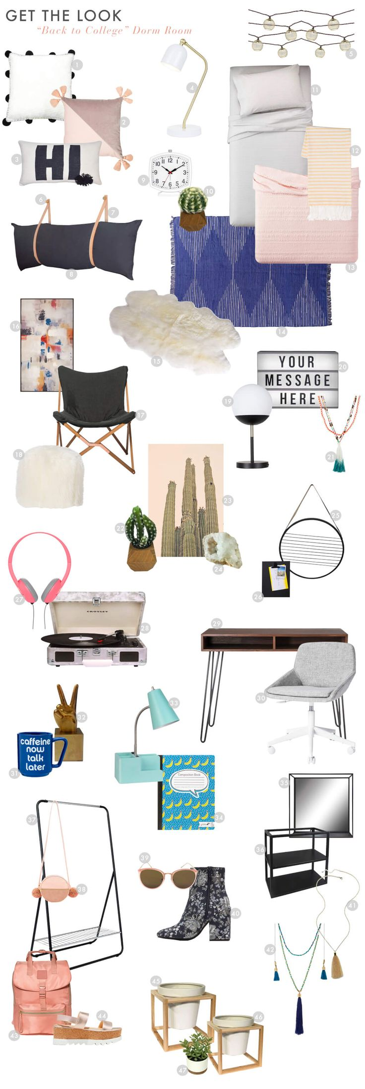 Emily Henderson Target Dorm Room Cool Hip DIY Get The Look Part 36