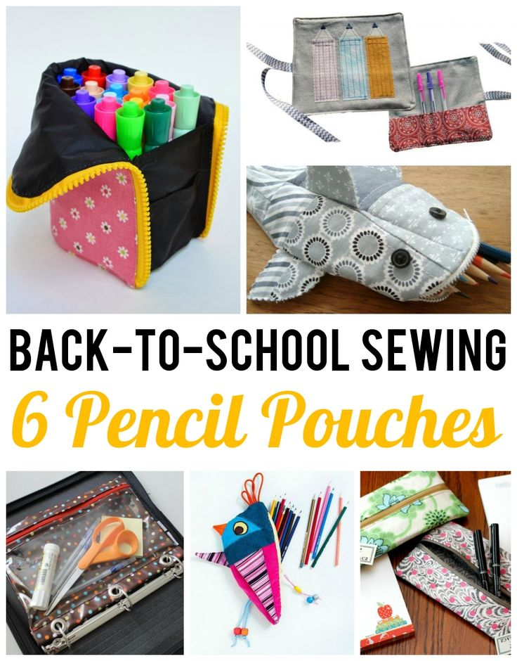 6 Pencil Pouch Sewing Patterns for Back-to-School
