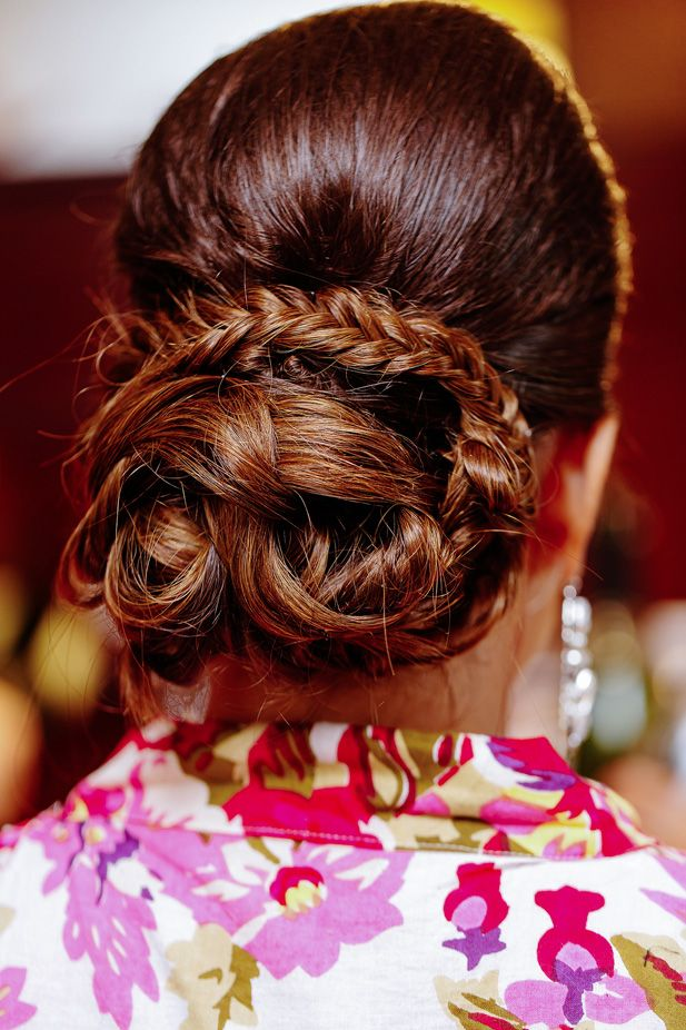 Gorgeous braided wedding hairstyle (Photo by Melissa Mercado Photography)