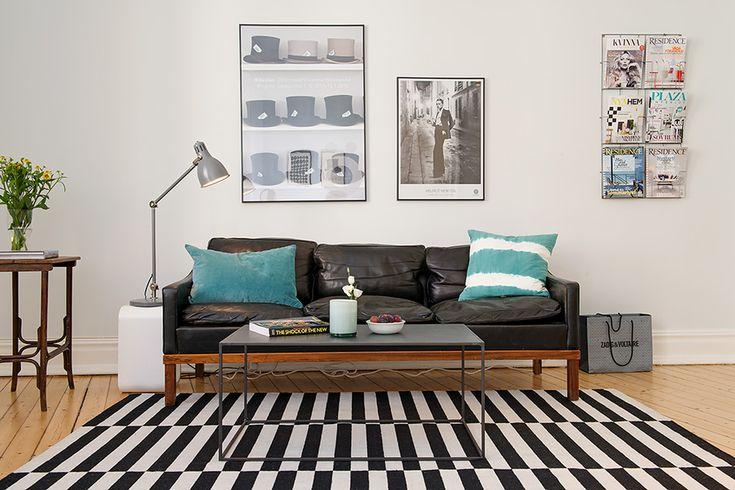 STOCKHOLM rug with midcentury style furnishings | Alvhem Mäkleri och Interiör