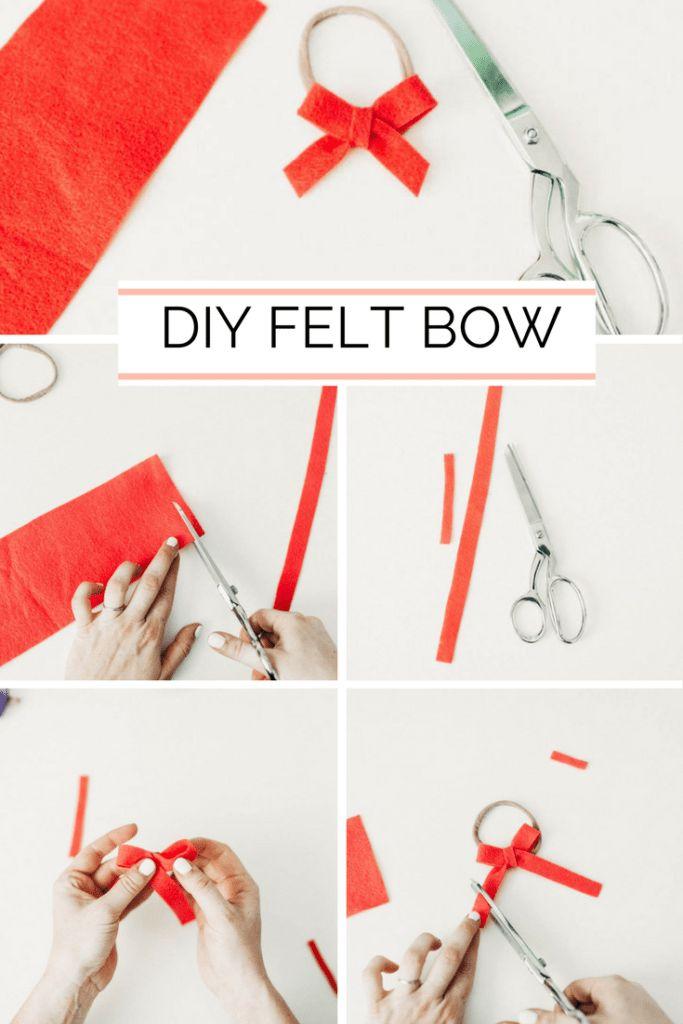A DIY Felt Bow Tutorial //  An easy, felt headband bow tutorial for girls; toddlers, babies. Sofia the First inspired. @DisneyJunior AD