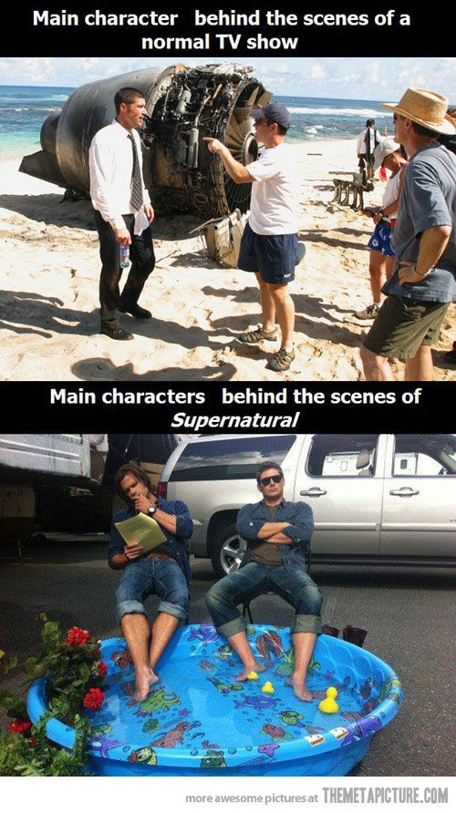 Thats because on the set of lost, they dont have two weirdos like Jared and Jensen.