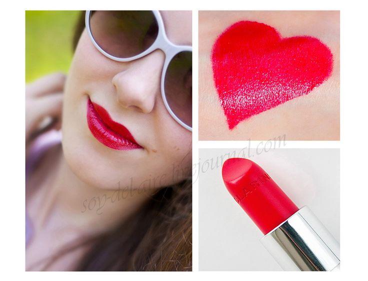 Clarins Joli Rouge Lipstick 734 Poppy Red Swatches