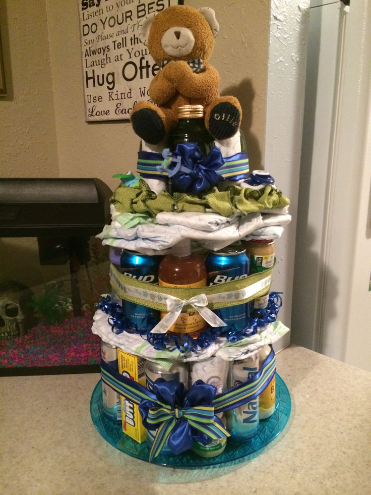 Beer Diaper Cake Perfect For A Coed Shower We Had A