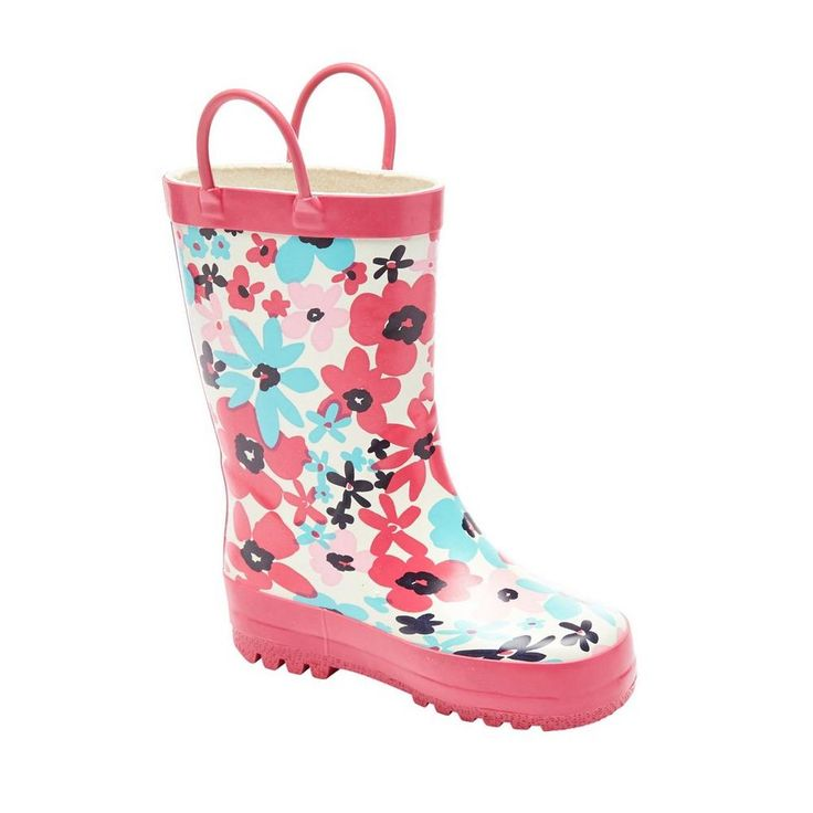 Kids Floral Print Rain Boots for $14.97