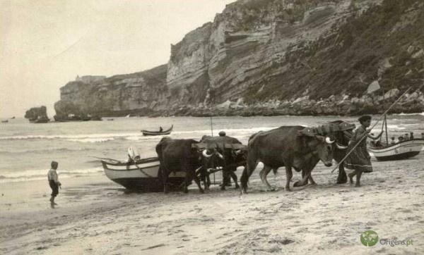 Praia da Nazaré em 1965