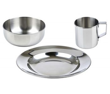 Lunchbots Childrens Stainless Steel Dish Set