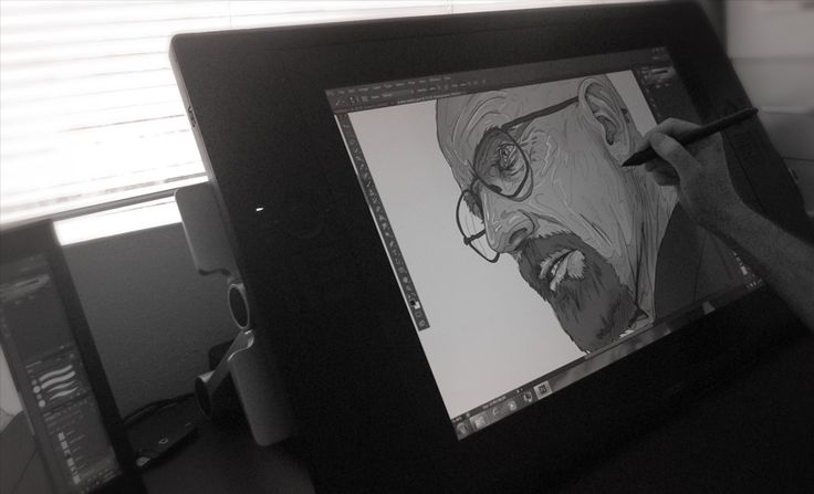 Kicking It Off! Here is a little test I did on my new Cintiq tablet. I thought I might as well draw Walter White.