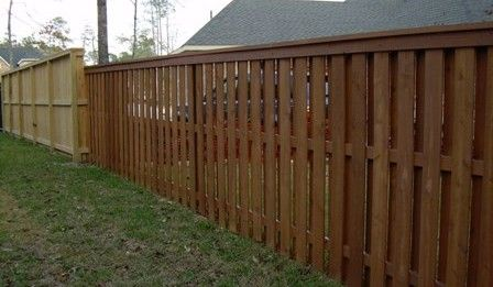 Shadow Box Fence Design | ... top dog eared picket fence custom wood gates custom wood fence design